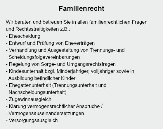 Familienrecht bei  Hanhofen