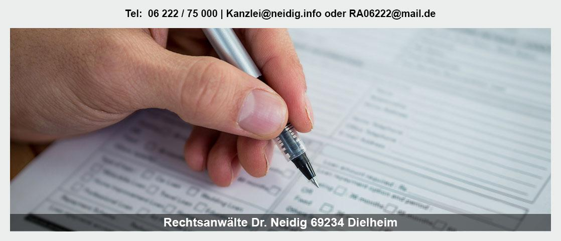 Erbrecht bei Knöringen - Kanzlei Dr. Jürgen Neidig: Scheidungsanwalt, Testament, Vorsorgevollmacht