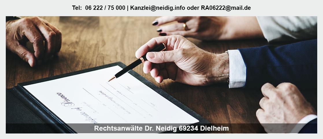 Erbrecht für Maulbronn - Kanzlei Dr. Jürgen Neidig: Erbengemeinschaft, Familienrecht, Vorsorgevollmacht