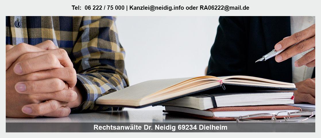 Erbrecht im Raum Fahrenbach - Kanzlei Dr. Jürgen Neidig: Verteilung Erbe, Unterhalt, Vorsorgevollmacht